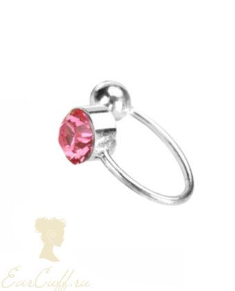 Обманка с розовым камнем