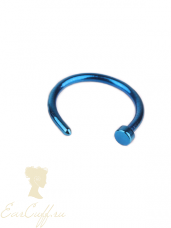 Пирсинг обманка синий
