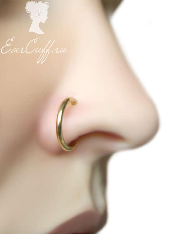 Золотистая обманка для носа