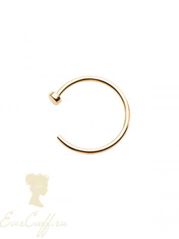 Пирсинг обманка на губу золотистая