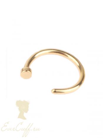 Пирсинг обманка золотой