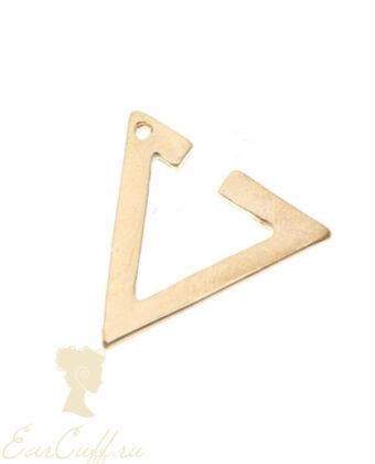 Треугольный кафф золотой