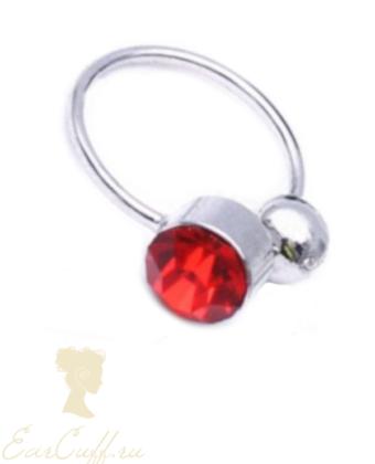 Обманка с красным камнем