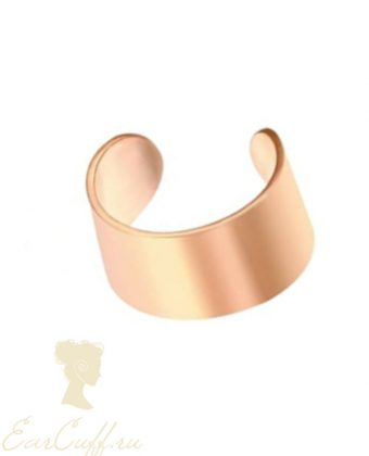 Кафф-колечко розовое золото