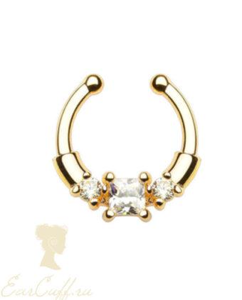 Септум обманка с кристаллами золотистая