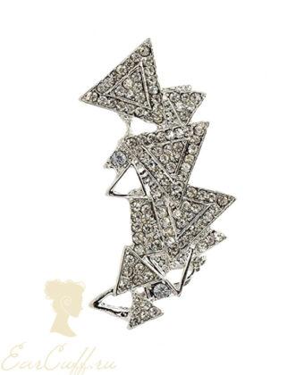 Кафф сверкающие треугольники