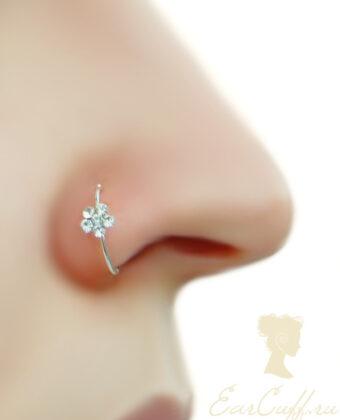 Обманка в нос с цветочком